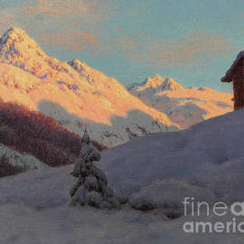 Peaks In The Engadine by Ivan Fedorovich Choultse