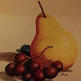 Pear and grapes by Colette Lee