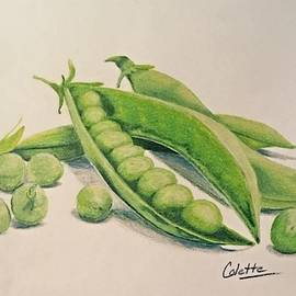 Peas in a pod by Colette Lee