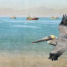 Pelican And Shrimping Fleet by R christopher Vest