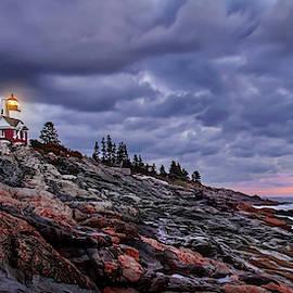Pemaquid Lightnouse Morning by Harriet Feagin