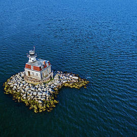 Penfield Reef Lighthouse Aerial by Stephanie McDowell