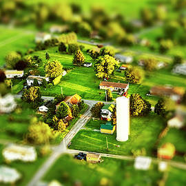 Pennsylvania Landscape From Aloft In An Ultralight With Tilt-shift by Kay Brewer
