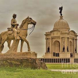 Pennsylvania Monuments at Gettysburg by Suzanne Wilkinson