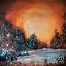 Pennsylvania Shenango Dawn in Oil by Janice Pariza