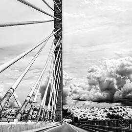 Kay Brewer - Penobscot Narrows Bridge in Black and White