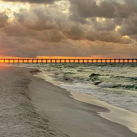 Pensacola Beach Pier Sunrise - Pensacola Florida by Brian Harig