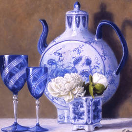 Peonies and China Blue by Rick Hansen