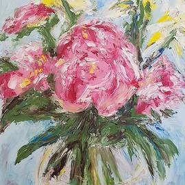 Peonies And Irises by Doc Bag