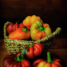 Peppers in a Basket by Cassi Moghan
