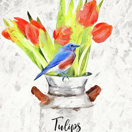 Perched On The Tulips by Tina LeCour