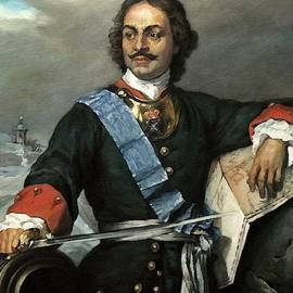 Peter The Great Of Russia After The Original Painting By Paul Delaroche L A S by Gert J Rheeders