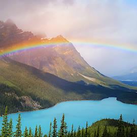 Peyto Lake Panorama by Dan Sproul