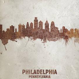Michael Tompsett - Philadelphia Pennsylvania Rust Skyline