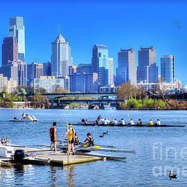 Philadelphia Skyline from Boathouse Row by David Zanzinger