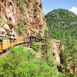 Picture Perfect Ride On The Durango Silverton Railroad by Gregory Ballos