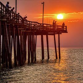 Pier Fishing At Sunrise 3216 by Dan Beauvais