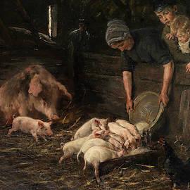 Pig Sty, Nursery, 1887 by Max Liebermann