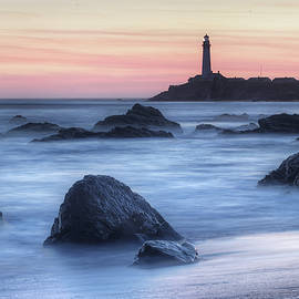 Pigeon Point from the Beach by Morgan Wright