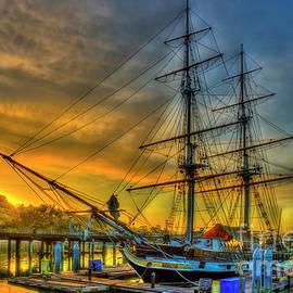 Pilgrim Sunrise Dana Point Harbor Los Angeles Southern California Art  by Reid Callaway