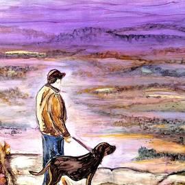 Pilot Mountain Dog Walk by Patty Donoghue