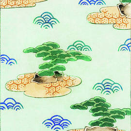 Pine tree japanese style gardens - Japanese traditional pattern design