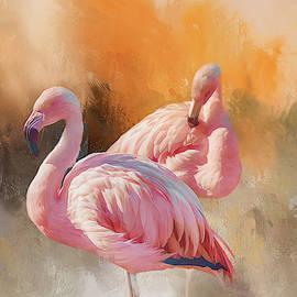 Pink Flamingos by Terry Davis
