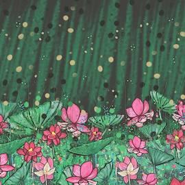 Pink Lilies Digital Change2 by Joan Stratton