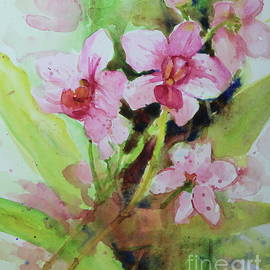 Pink Moth Orchids I by Marsha Reeves