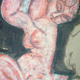 Pink Nude, Caryatid by Amedeo Modigliani