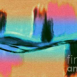 Pink Orange Turquoise Black and Aqua Abstract Painting by Delynn Addams by Delynn Addams