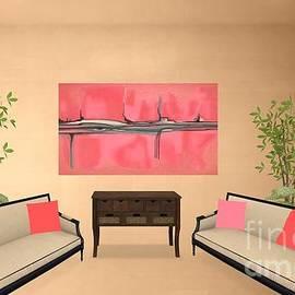 Pink Peach Blue Eye Abstract Mockup Interior Decor  by Delynn Addams