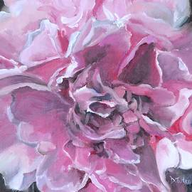 Pink Peony Painting by Donna Tuten