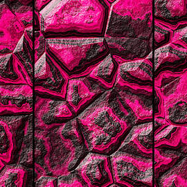 Pinkish Colored Stone Triptych by Don Northup