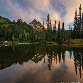 Pinnacle Peak Sunset Reflection Angles by Mike Reid