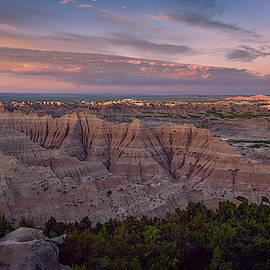 Pinnacles Overlook Sunrise Badlands National Park South Dakota II by Joan Carroll