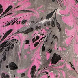 Pink and Grey marble by Rose Wark