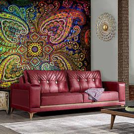 Pinwheel Paisley--Artwork in Situ by Grace Iradian