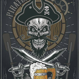 Pirates Mug of Beer - Vector  by Caids Ados