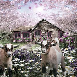 Playing in the Garden in Pale Tones by Debra and Dave Vanderlaan