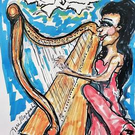 Playing The Heavenly Harp Music  by Geraldine Myszenski