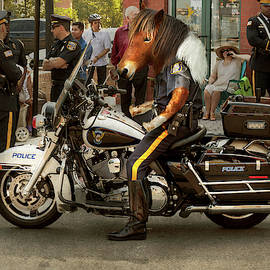 Police - Mounted police by Mike Savad