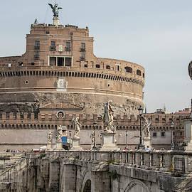 Ponte Sant'angelo Bridge In Rome  by John McGraw