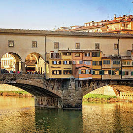 Ponte Vecchio Florence Italy Afternoon by Joan Carroll
