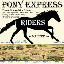 Pony Express Want Ad by Lisa Redfern