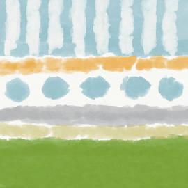 Poolside 3- Art By Linda Woods by Linda Woods