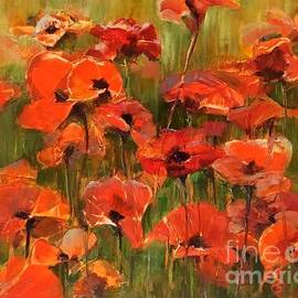 Poppies in the Field by B Rossitto