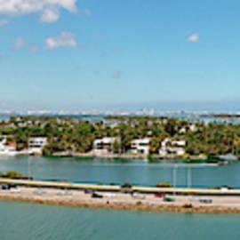 Port Of Miami Panoramic by Kristia Adams