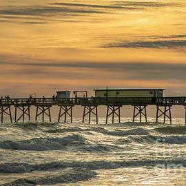 Port Orange Pier in Winter by Edie Ann Mendenhall