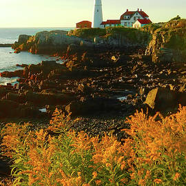 Portland Head Lighthouse at Cape Elizabeth by Jennifer Stackpole
